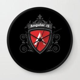 AngularJS Vintage Royal Design Wall Clock