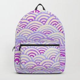 Watercolor Waves - Peach Violet Backpack