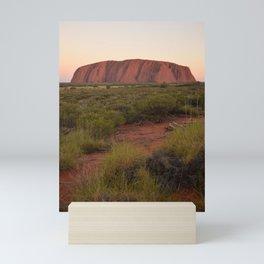 Sunset at Uluru Mini Art Print