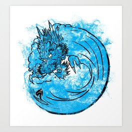 Dragon Waves Art Print