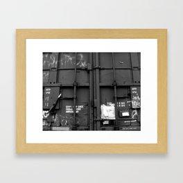 BW23 Compartment Framed Art Print
