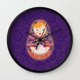 Russia meets India Wall Clock