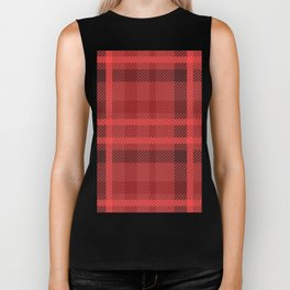 Red And Black Flannel Biker Tank