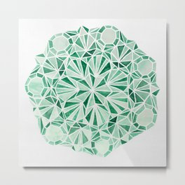Malachite Metal Print