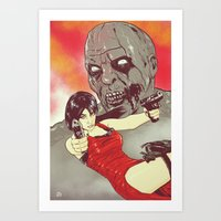 resident evil Art Prints featuring Evil Resident by Giuseppe Cristiano