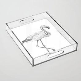 Flamingo Acrylic Tray