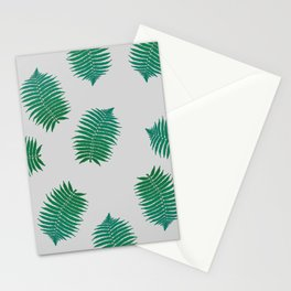 Turquoise leaves nature pattern Stationery Cards
