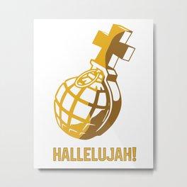Holy Grenade Hallelujah Metal Print