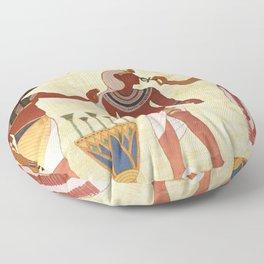 egyptian design man woman priest Floor Pillow