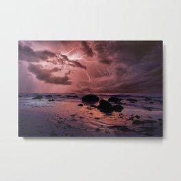 Pink storm skies Metal Print