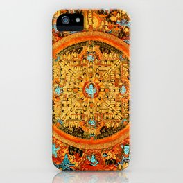 Buddhist Mandala 45 Ashta Bhairava iPhone Case