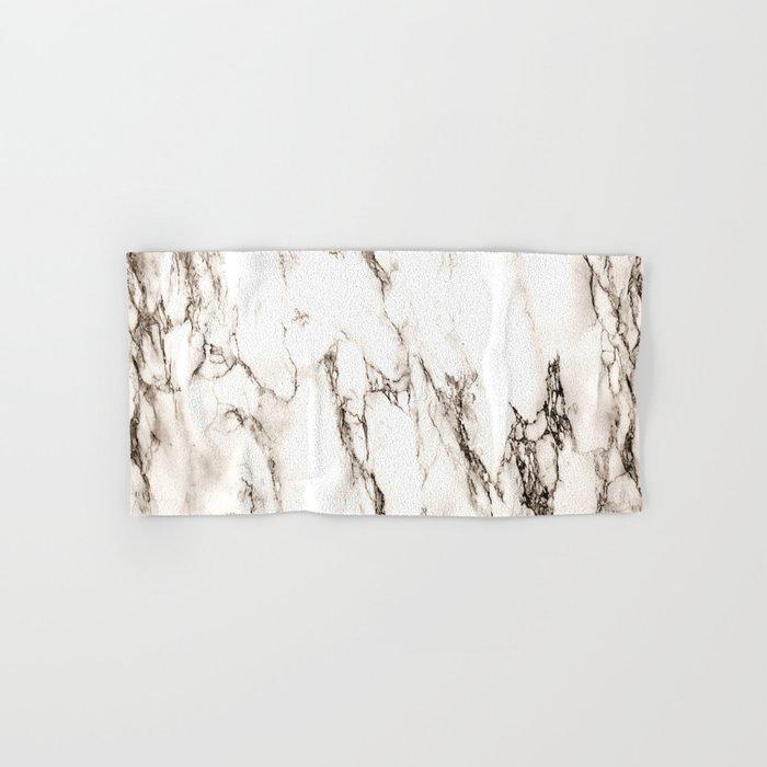 Brown Veined Marble Hand & Bath Towel