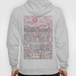 Seattle in Colored Pencil Hoody