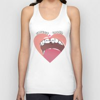 "tooth Tank Tops featuring ""sweet tooth"" by Vincent Vernacatola"
