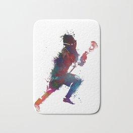 Lacrosse player art 1 Bath Mat