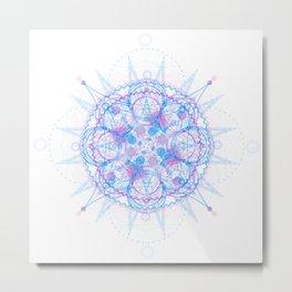 Jagged Circumference Metal Print