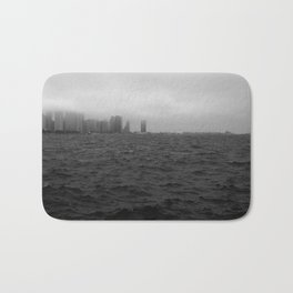 misty windy city Bath Mat