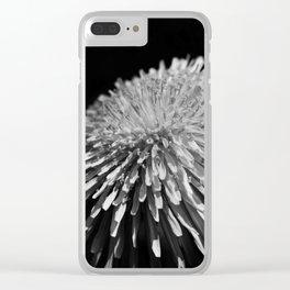 Dandelion Taraxacum blossom flower Clear iPhone Case