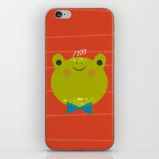 Dressy Froggy iPhone Skin