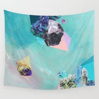 mineral Wall Tapestries featuring Mineral Leo by Sara Cannon Art