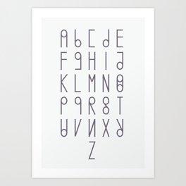 alphabet light version Art Print