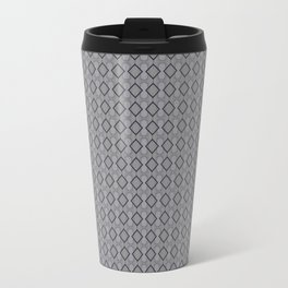 Modern Grey Triangle Geometrical Pattern Travel Mug