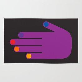 Purple Pop Hand Rug