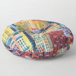 New York buildings Floor Pillow