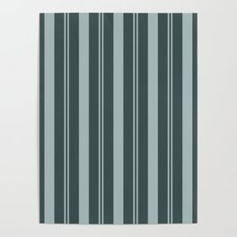 Blue Willow Green PPG1145-4 Thick & Thin Vertical Stripes on Night Watch Color of the Year PPG1145-7 Poster