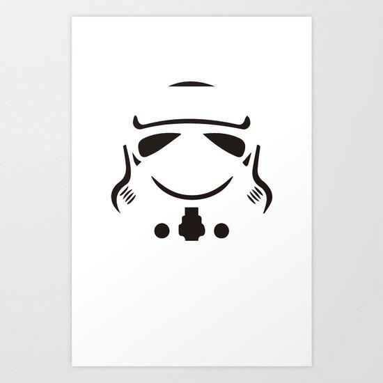 Stormtrooper so serious Art Print