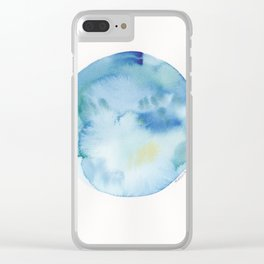 8 | 190831 | Watercolor Circle Clear iPhone Case