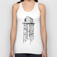 cabin Tank Tops featuring cabin fever by PAFF