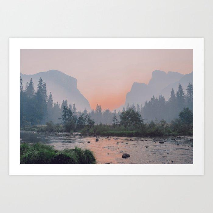 Yosemite Valley Sunrise Pretty Pink Kunstdrucke