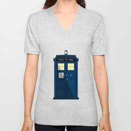 The TARDIS Unisex V-Neck