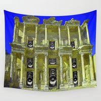 old school Wall Tapestries featuring Old School by Nicholas Bremner - Autotelic Art
