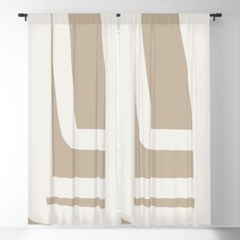 Neutral Abstract 5A Blackout Curtain