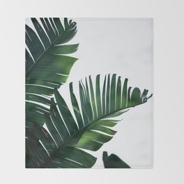 Palm Leaves 16 Throw Blanket