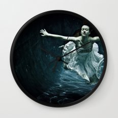 abyss of the disheartened : girl I Wall Clock