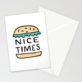 Nice Times Cheeseburger Stationery Cards