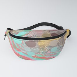 Abstract Holographic Iridescent Art 5 Fanny Pack