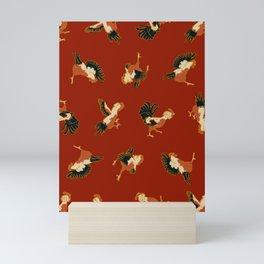 Fighting Roosters Mini Art Print
