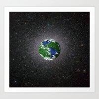 Planet In Reverse Art Print