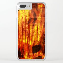 Forest Fires Clear iPhone Case