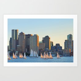 The Boston Skyline From East Boston MA Art Print