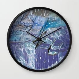 In Between Raindrops Wall Clock