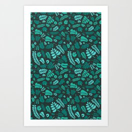 Jungle leaves pattern Art Print