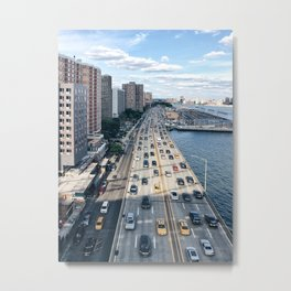 Sunday Rush Hour, New York City Metal Print