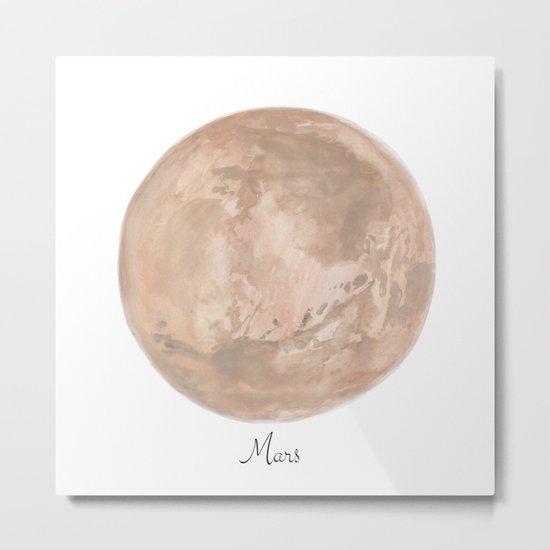 Mars planet Metal Print