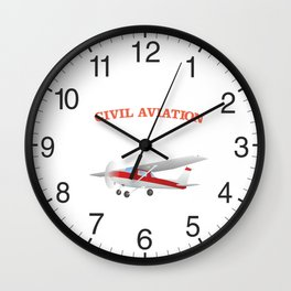 Civil Single-engined High Wing Airplane Wall Clock