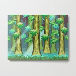 Forest of Pixels Metal Print